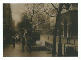 CPM Paris Station De Métro Strasbourg Saint Denis Reproduction D' Une Photo Ancienne. - Métro