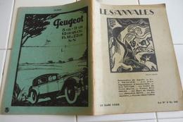 LES ANNALES 15/08/1928-LA VALLÉE DU PETIT MORIN-AMSTERDAM LES ATHLÈTES-TRÉSORS DU VIEUX SÉRAIL-DINAH - Periódicos
