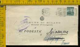 RSI Monumenti Distrutti Piego Con Testo Milano Magreglio - 4. 1944-45 Repubblica Sociale