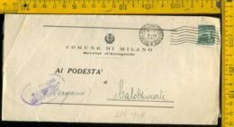 RSI Monumenti Distrutti Piego Con Testo Milano Calolziocorte - 4. 1944-45 Repubblica Sociale