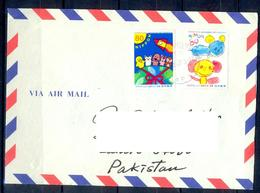 K942- Postal Used Cover. Posted From Nippon Japan To Pakistan. Space. Painting. Jet. - Japan