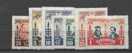 1930 MH Lituania Mi 307-13 - Lituania