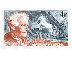 Ref. 32374 * MNH * - MONACO. 1987. CENTENARY OF THE BIRTH OF MARC CHAGALL . CENTENARIO DEL NACIMIENTO DE MARC CHAGALL - Monaco