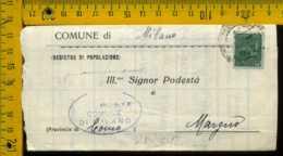 RSI Monumenti Distrutti Piego Con Testo Milano Margno - 4. 1944-45 Repubblica Sociale