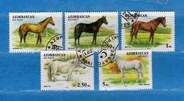 (Us.3) Azerbaidjan - Azerbaycan °-1993 - Faune CHEVAUX-CAVALLI. Yvert.87 à 93 Sauf N°88-93 . Usato.  Vedi Descrizione - Azerbaïjan
