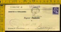 Luogotenenza Imperiale Piego Senza Testo Milano Lasnigo - 5. 1944-46 Luogotenenza & Umberto II
