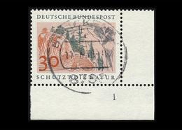 BRD 1969, Michel-Nr. 593, Europäisches Naturschutzjahr 1970, 30 Pf., Eckrand Rechts Unten Mit Formnummer 1, Gestempelt - BRD