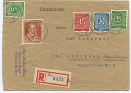 Alliierte Besetzung R Brief Aue Penzberg 1947 - Non Classés