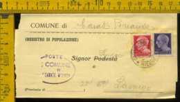 Luogotenenza Imperiale Piego Senza Testo Carate Brianze Lasnigo - 5. 1944-46 Lieutenance & Humberto II