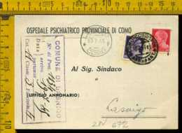 Luogotenenza Imperiale Piego Con Testo Como Lasnigo - 5. 1944-46 Lieutenance & Humberto II
