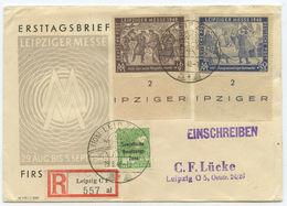 SBZ FDC R Brief Leipzig 1948 - [7] République Fédérale