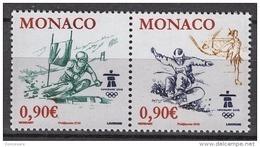 MONACO 2009 DUO  - Y.T. 2710 ET 2711 - 2 TP NEUFS ** - Monaco