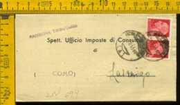 Luogotenenza Imperiale Piego Con Testo Roma Lasnigo - 5. 1944-46 Lieutenance & Humberto II