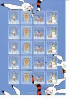 Feuille De Vignettes De Noël Des Iles Aland 2009 Neuve - Aland