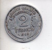 REF 1  : Monnaie COIN FRANCE 2 Francs Alu 1945 C - I. 2 Francs