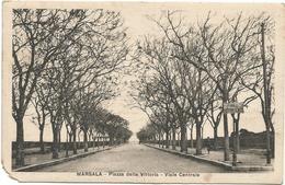 W2915 Marsala (Trapani) - Piazza Della Vittoria - Viale Centrale / Viaggiata 1930 - Marsala