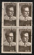 BRAZIL  Scott # 965 VF USED BLOCK Of 4 (Stamp Scan # 503) - Brazil