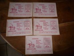 Lot De 5 Buvards  Publicitaires CAHIERS HERAKLES - Stationeries (flat Articles)