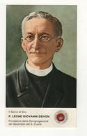 233 Santino Antico Servo Di Dio Padre Leone Giovanni Dehon Con Reliquia - Religion & Esotérisme