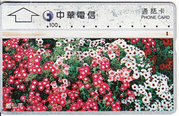 TAIWAN - Flowers, Chunghwa Telecard, CN : 634E, Used - Taiwan (Formosa)