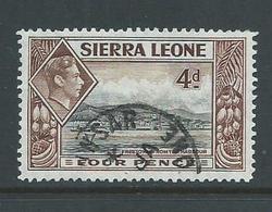 Sierra Leone 1938 4d Freetown Harbour FU - Sierra Leone (...-1960)