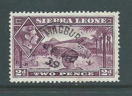 Sierra Leone 1938 KGVI 2d With Magbura Cds Postmark Used - Sierra Leone (...-1960)