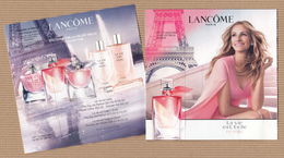 "CC Carte Parfumée ""LANCOME LVB EN ROSE"" #3264 Perfume Card Rabat 5x5 - Modern (from 1961)"