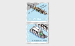 Switzerland 2019 - 150 Years Lake Line + Train Ferry Stamp Set Mnh - Schweiz