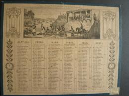 ALMANACH  1851 CALENDRIER 2  SEMESTRIELS    Allegorie Bonaparte Nil  Et Napoléon  Course De Chars --mai 2019 Clas Cal - Calendriers