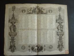 ALMANACH  1851 CALENDRIER 2  SEMESTRIELS  ALLEGORIE Et ARABESQUE RELIGIEUX   EDIT  Tremblay -mai 2019 Clas Cal - Calendriers