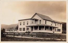 RPPC B&W - Real Photo - Lindbergh Hotel - Glen Sutton & Highwater Quebec & Richford Vermont - Written 1927 - 2 Scans - Quebec