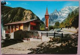 COURMAYEUR ENTREVES - Val D'Aosta - La Nuova Chiesetta E Sfondo Monte Bianco - Vg - Italia