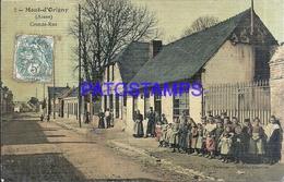 112120 FRANCE MONT D'ORIGNY AISNE GREAT STREET CIRCULATED TO PARIS POSTAL POSTCARD - Francia