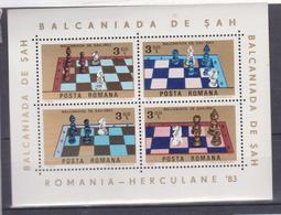 CHESS, GAMES BF  , MNH, ROMANIA 1983, BALCANIADA CHESS - Ajedrez
