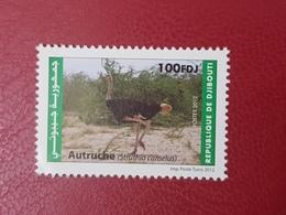 DJIBOUTI FAUNA FAUNE DE OISEAUX BIRDS AUTRUCHE OSTRICH Michel Mi 817 MNH 2012 ** RARE - Struisvogels