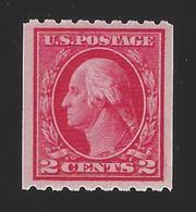 US #411 1912 Carmine Perf 8.5 Horz Wmk 190 MNH VF SCV $22.50 - Unused Stamps