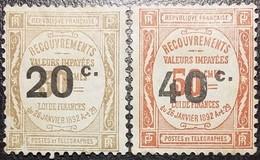 FRANCE Taxes Yv N°49/50  2 Timbres De 1917 Neufs* - Taxes