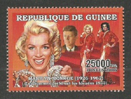 GUINEA 2006 FILMS MONROE GENTLEMEN PREFER BLONDES MINERALS DIAMONDS SINGLE MNH - Guinea (1958-...)