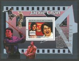 GUINEA 2007 FILMS JACKIE CHAN KUNG FU KARATE MARTIAL ARTS M/SHEET MNH - Guinea (1958-...)