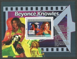GUINEA 2007 FILMS BEYONCE KNOWLES DESTINY'S CHILD M/SHEET MNH - Guinea (1958-...)
