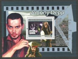 GUINEA 2007 FILMS JOHNNY DEPP PIRATES OF THE CARIBBEAN M/SHEET MNH - Guinea (1958-...)