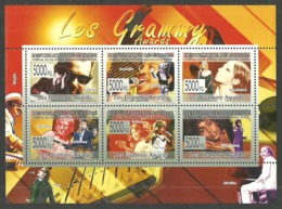 GUINEA 2006 FILMS GRAMMY AWARDS POP MUSIC LENNON RITCHIE HOUSTON M/SHEET MNH - Guinea (1958-...)
