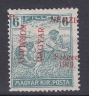 Hungary Szagedin Szeged 1919 Mi#9 Error - Moved Overprint, MNG - Szeged