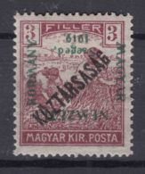 Hungary Szagedin Szeged 1919 Mi#27 Mint Hinged, Error - Inverted Overprint - Szeged