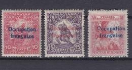 France Occupation Hungary Arad 1919 Yvert#1-3 Mi#3-5 Mint Hinged - Ungarn (1919)
