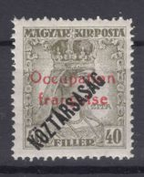 France Occupation Hungary Arad 1919 Yvert#35 Mint Hinged - Ungarn (1919)