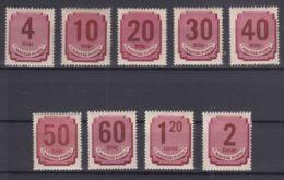 Hungary 1946 Porto Mi#179-187 Mint Hinged - Impuestos