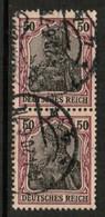 GERMANY  Scott # 73 VF USED PAIR (Stamp Scan # 504) - Germany