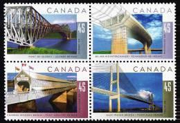 Canada (Scott No.1573a - Ponts / Bridges) [**] - 1952-.... Règne D'Elizabeth II