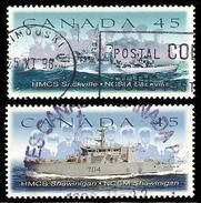 Canada (Scott No.1762-63 - HMCS Bateaux / Ships) (o) - 1952-.... Règne D'Elizabeth II